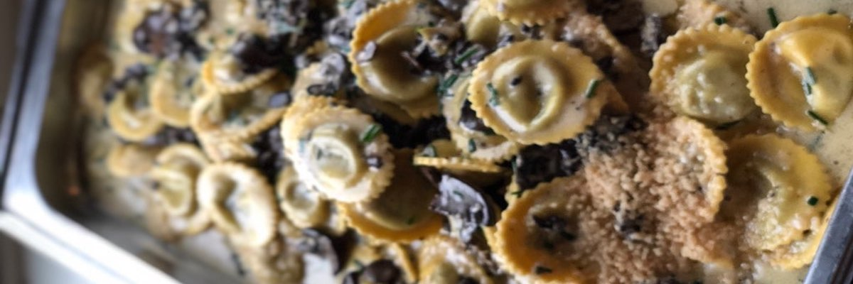 delicious truffle ravioli made by Scarborough Fare Catering